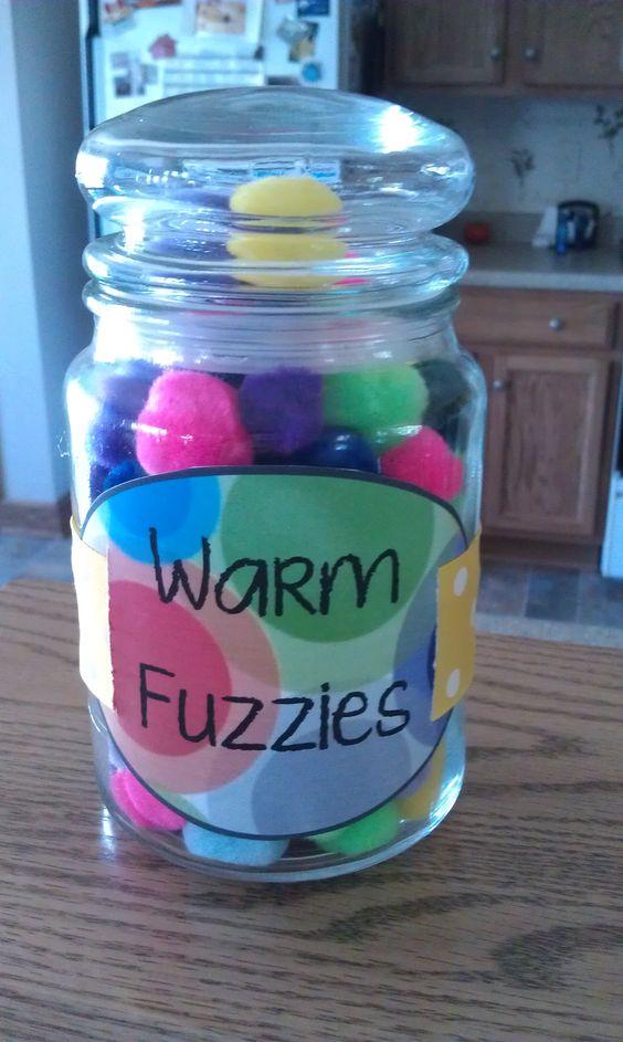 Classroom Marble Jar Ideas : Super proud of my warm fuzzy jar whole class rewards a