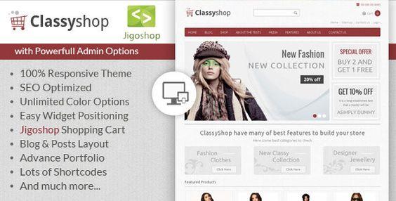 Download ClassyShop - Jigoshop WordPress Theme - http://wordpressthemes.me/download-classyshop-jigoshop-wordpress-theme/