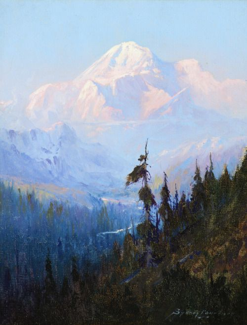 art-and-things-of-beauty:    Sydney Mortimer Laurence (1865–1940) - Mount McKinley, oil on canvas, 25,4 x 20,3 cm.