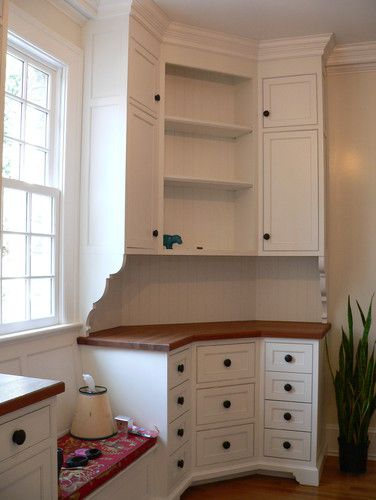 Kitchen photos corner cabinets and window benches on - Kitchen pantry cabinet design plans ...