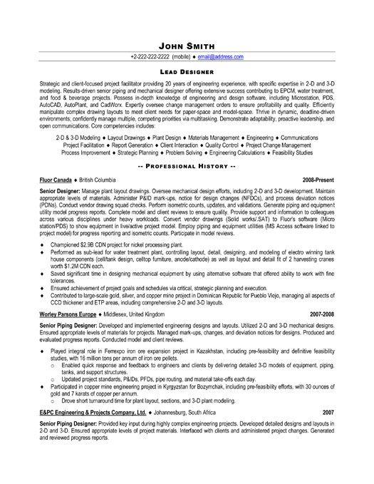 resume for pipefitter examples