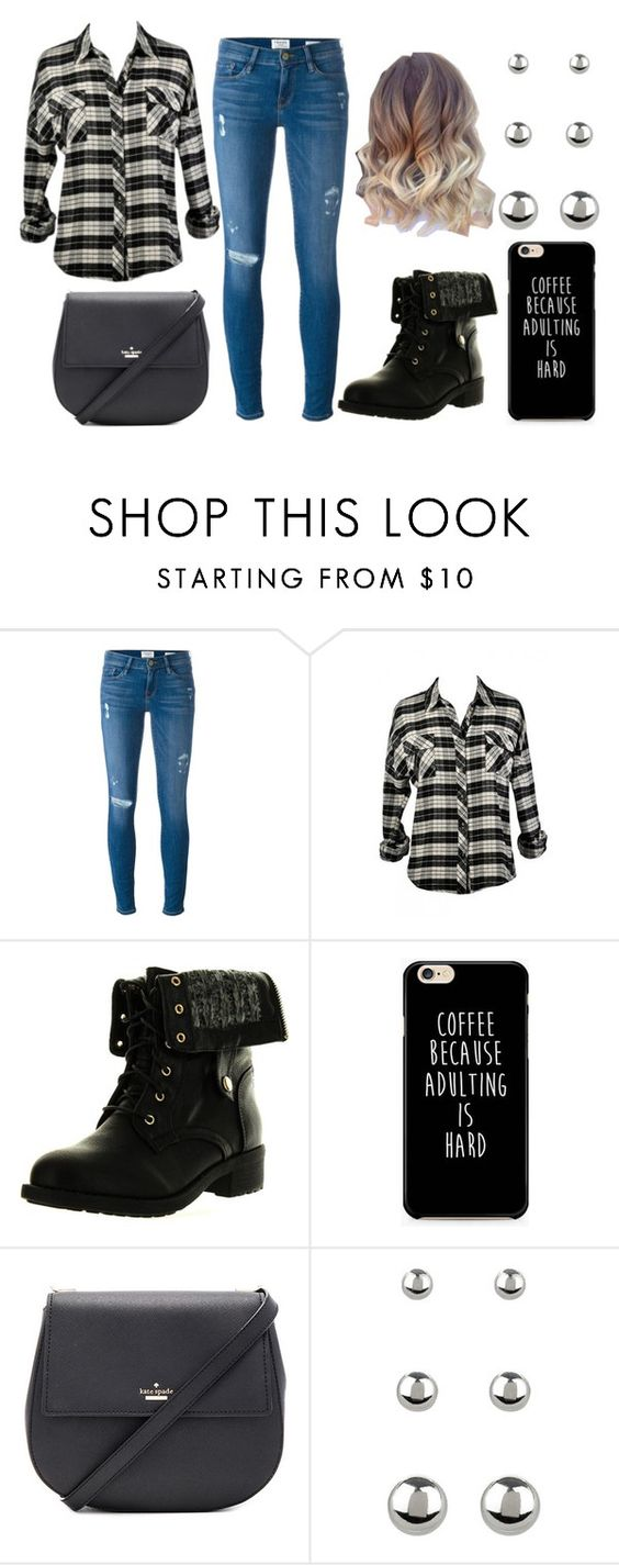 """""""Untitled #102"""" by hjchef ❤ liked on Polyvore featuring Frame Denim, Refresh, Kate Spade and Accessorize"""