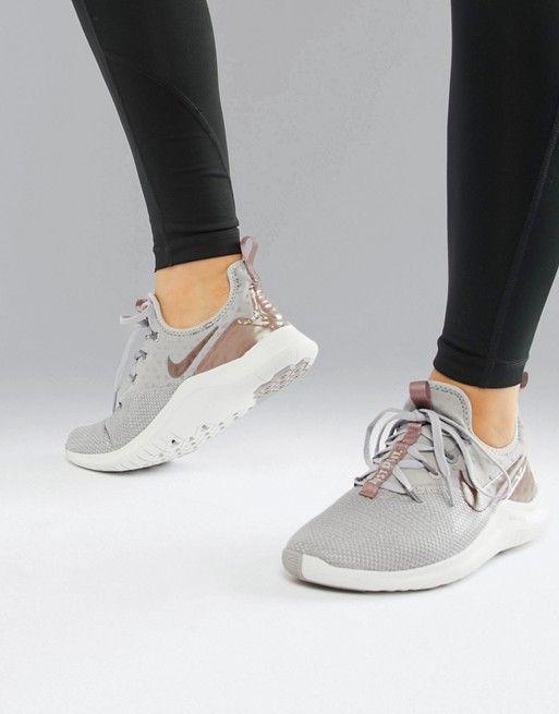 79ed148373a Nike Training Free Tr 8 Metallic Trainers