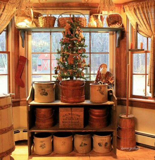 Primitive Kitchen Decor Ideas: Prim Christmas, Will Have To And Shelves On Pinterest