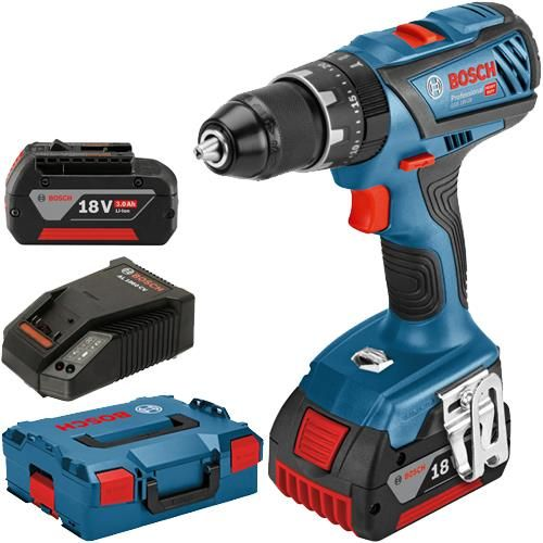 Click To Enlarge Bosch Gsb 18v 28 18v Dynamicseries Combi Drill With Two 3 0ah Batteries Metal Chuck Bosch Drill Festool