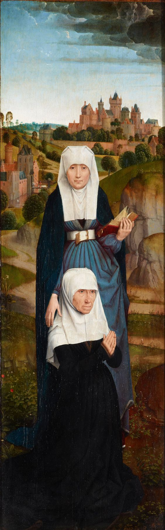 Hans Memling, Old Woman at Prayer with St. Anne