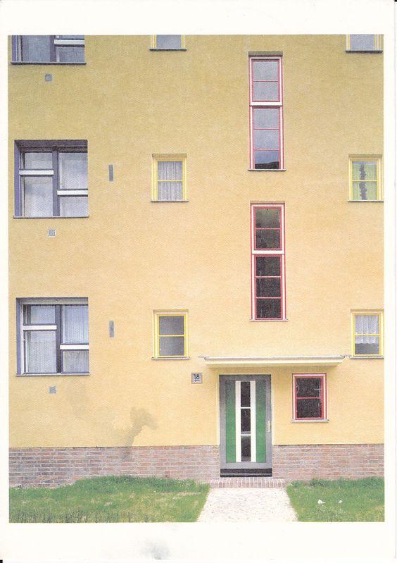 Bruno Taut,Wohnstadt Carl Legien Berlin. Prenzlauer Berg. 1930. (via Postales Inventadas/ Making up Postcards)