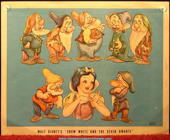 Old Walt Disney Snow White & The Seven Dwarfs Doll Contest Advertisement