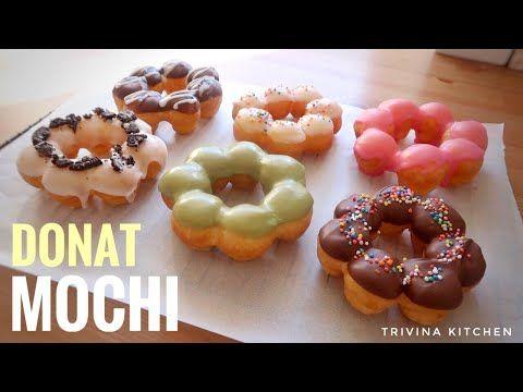 Resep Donat Mochi Mudah Kenyal Enak Banget Mochi Donuts Youtube Mochi Donuts Recipe Delicious Cake Recipes Baking Sweets