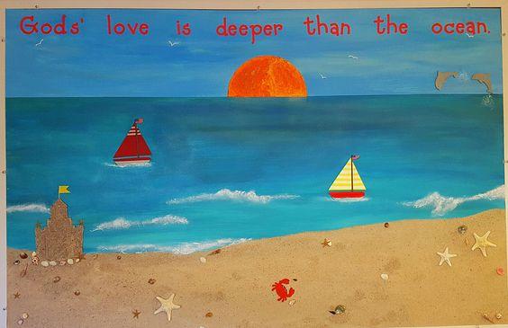 Summer Bulletin Board...God's love is deeper than the ocean. 2016