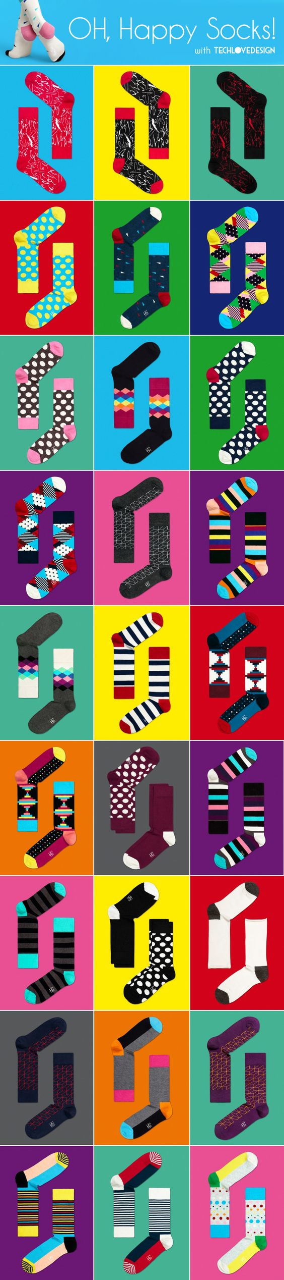 Happy Socks. Very cheerful goodies :)