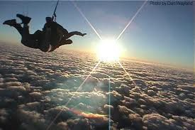 skydiving... 40 lbs more to lose and I can do it.. Goal set!!