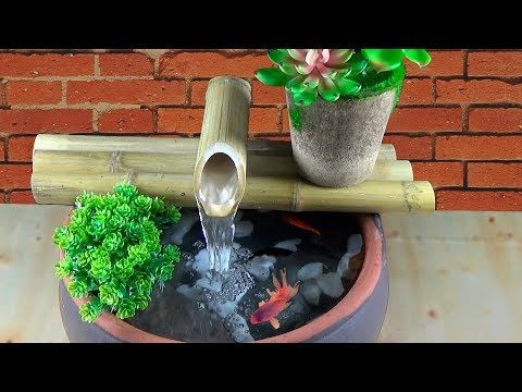 Diy Bamboo Water Fountain How To Make Water Fountain Youtube In 2020 Bamboo Water Fountain Diy Water Fountain Homemade Water Fountains