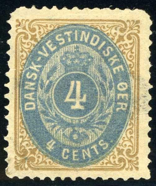 Danish West Indies 4¢ 1873. [Mi:7a]