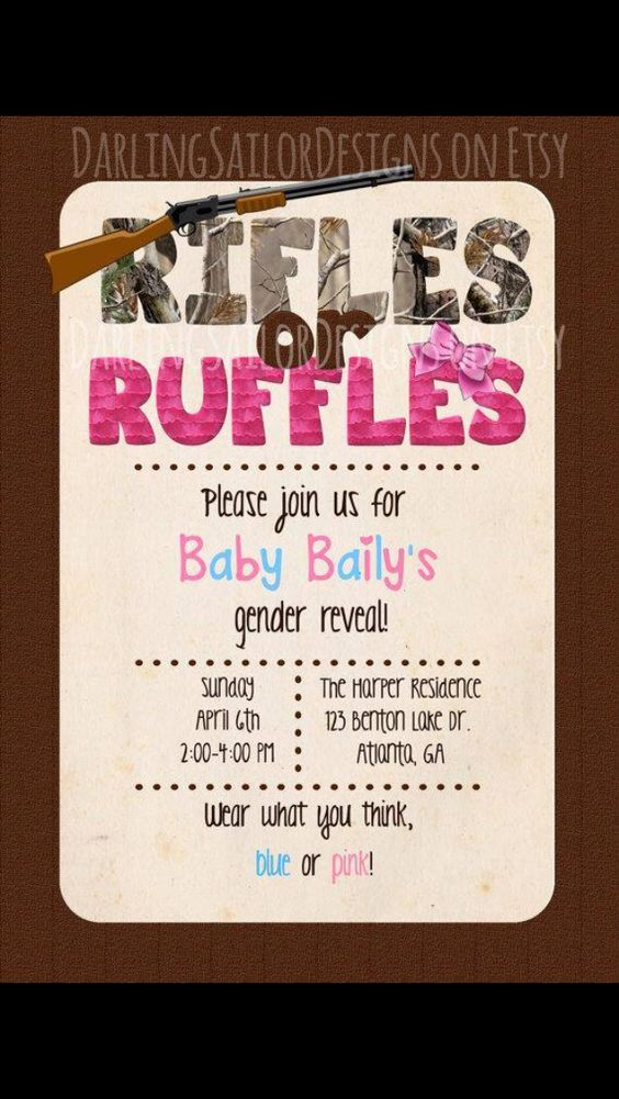 Cute country gender reveal invitations. Would be cute for a future Seale :) @Amber Kroenke