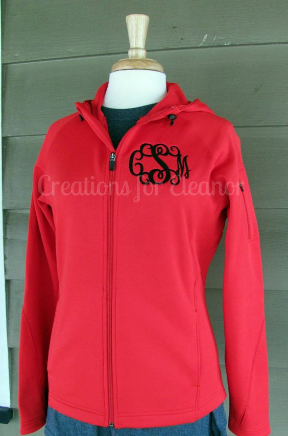 Womens Monogrammed Tech Fleece Jacket