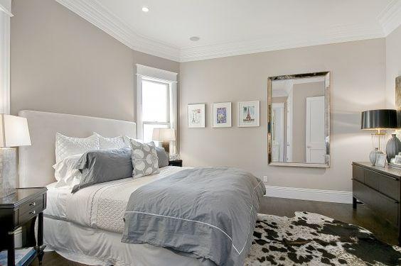 Suzie: Cardea Building Co. - Chic master bedroom with greige walls paint color, Restoration ...