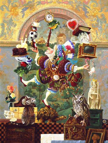 'Balancing Act' by James Christensen