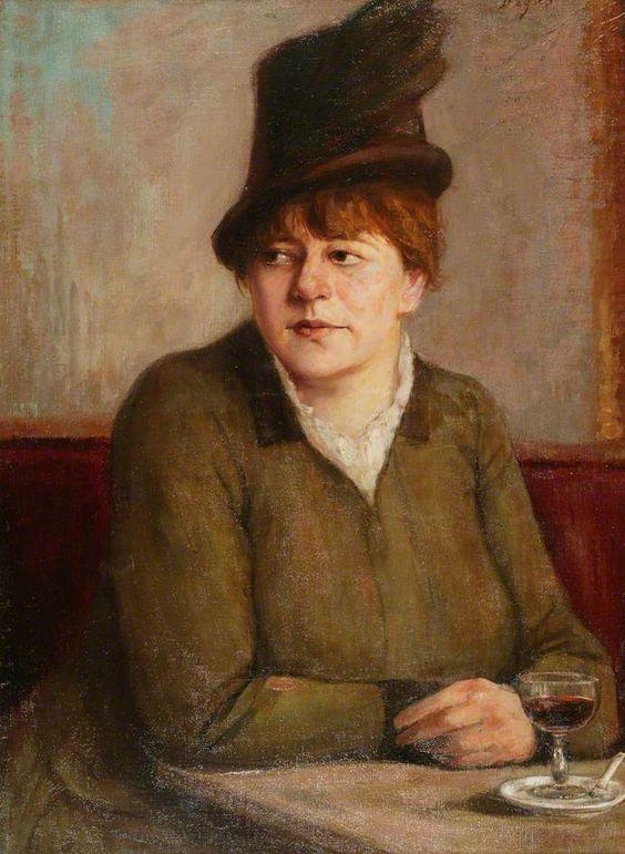 Woman in a Café, Edgar Degas: