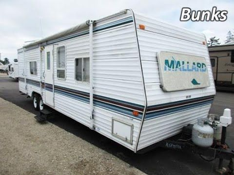 171 Haylettrv Com 1999 Mallard 29rs Used Bunkhouse Travel Trailer By Fleetwood Rv Youtube Bunkhouse Travel Trailer Fleetwood Rv Travel Trailer