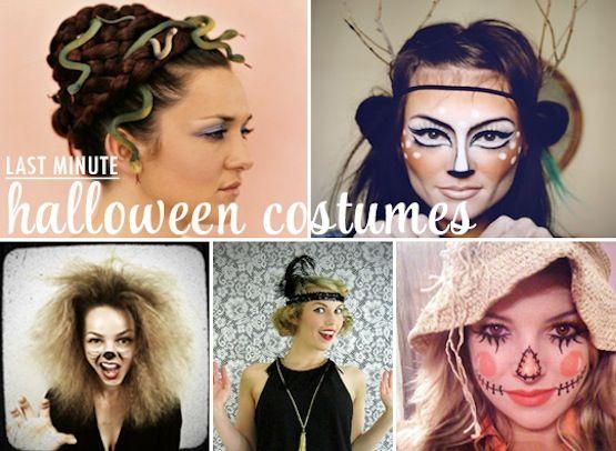 Last minute DIY Halloween costumes Halloween Pinterest Last - halloween costumes ideas