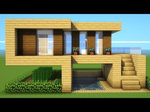 Minecraft How To Build A Starter Wooden House Tutorial 2018 2019 Youtube Cute Minecraft Houses Minecraft House Tutorials Easy Minecraft Houses