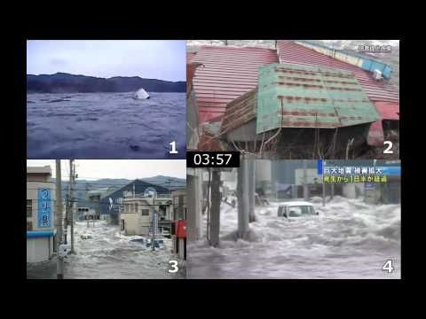 気仙沼市内3地点における同時刻津波映像 東日本大震災 - YouTube