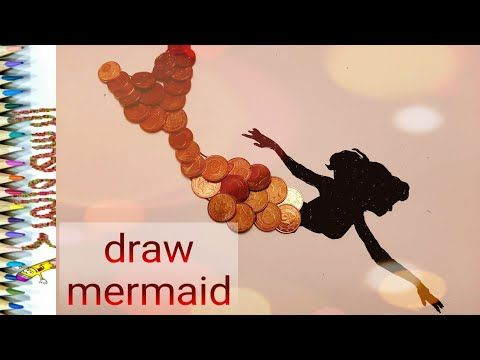 رسم حورية البحر للأطفال بفكرة راااءعة Draw Mermaid Youtube Art Movie Posters Poster