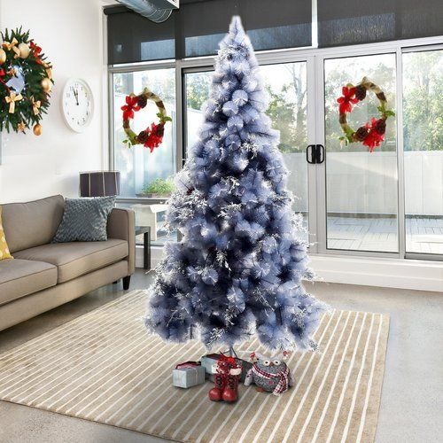 The Seasonal Aisle 4 9 Ft Grey Spruce Artificial Christmas Tree With Stand Grey Christmas Tree Christmas Tree Xmas Decorations