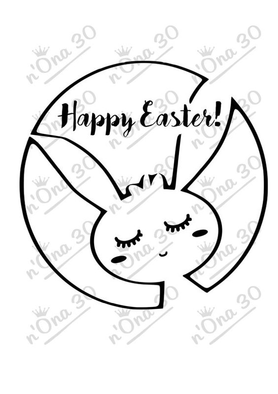 HAPPY EASTER design file for Silhouette or other cutting por Nona30