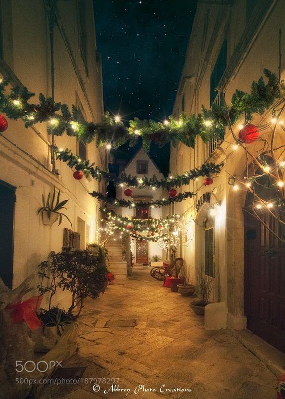 http://500px.com/photo/187978297 Christmas is Magic by NickAbbrey -Una caratteristica stradina del centro storico di Locorotondo (Puglia - Italy)  Abbrey Photo Creations  Follow me on : Facebook : https://www.facebook.com/AbbreyPhotoCreations/ Instagram : https://www.instagram.com/nick_abbrey/. Tags: skycitybeautywintertravelwallpaperbluecontrastnightlightitalytreechristmasbeautifulnikonwhitesnowgreenicepugliaitaliacolorfulcolor imagebariapuliabalocorotondonikon d7200