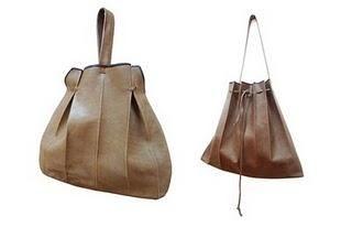 fold leather bags by Nutsa Modebadze