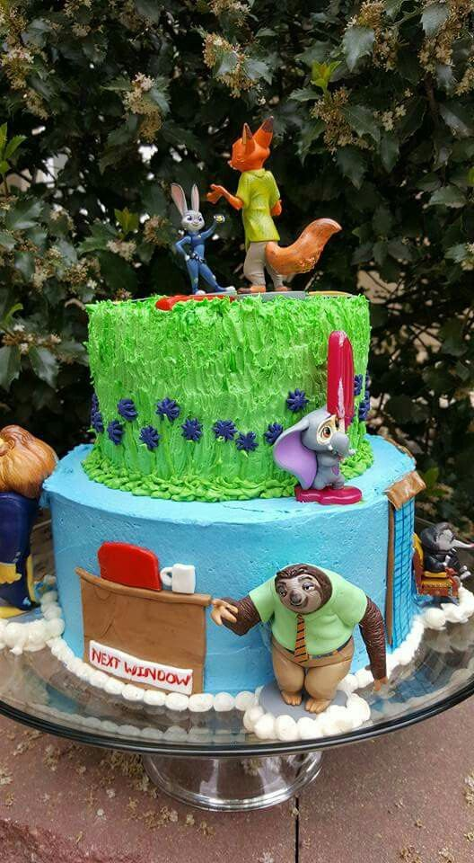 Zootopia birthday cake: