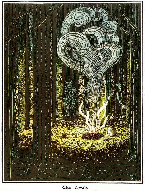 J.R.R. Tolkien - illustration for The Hobbit