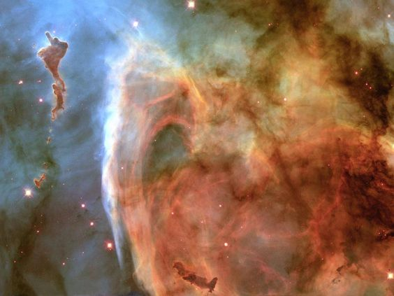 Light and Shadow in the Carina Nebula —  Previously unseen details of a mysterious, complex structure within the Carina Nebula (NGC 3372) are revealed by this image obtained by NASA's Hubble Space Telescope. The picture is a montage assembled from four different April 1999 telescope pointings... Image Credit: NASA, the Hubble Heritage Team and Nolan R. Walborn (STScI), Rodolfo H. Barba' (La Plata Observatory, Argentina), and Adeline Caulet (France).