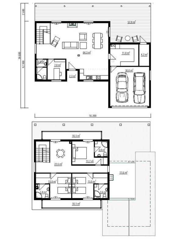 Casa vasca 200m2 entramado ligero casa en sistema de for Planos casas unifamiliares