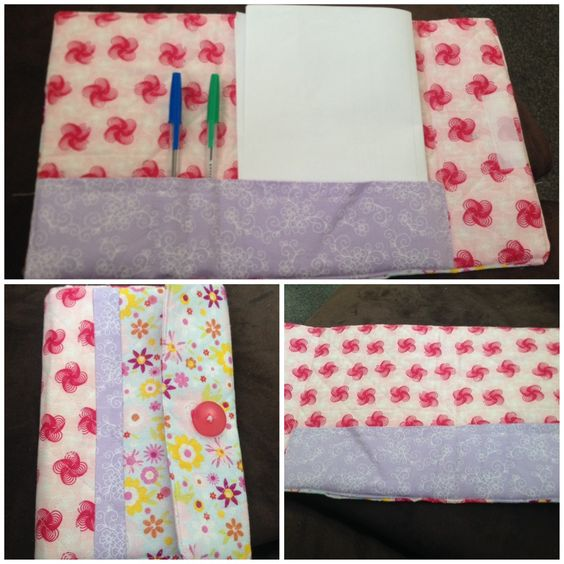 Notepad and pen holder made on craft course.