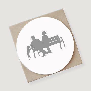 Couple on Bench Coasters 4 Pack  by Vana Chupp
