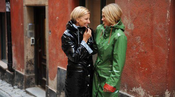Lucky women in pvc raincoat raincoat pinterest coats