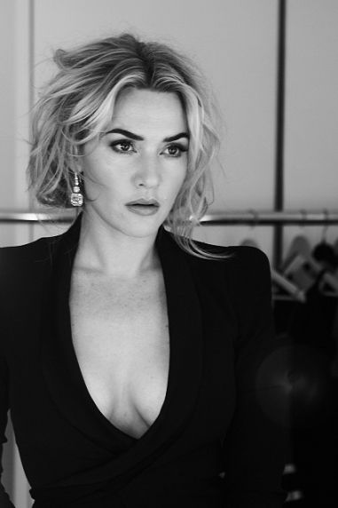 Kate Winslet. Just love this beautiful neutral makeup look with the slightly messy hair.