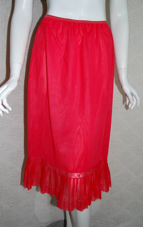 1950s Red Half Slip Rogers Accordian Pleated by IntimateRetreat, $32.00