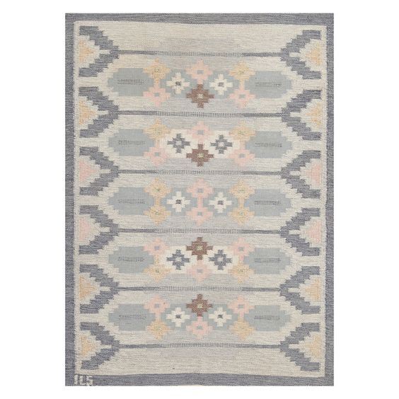 Swedish Flat Weave Wool Carpet | From a unique collection of antique and modern russian and scandinavian rugs at http://www.1stdibs.com/furniture/rugs-carpets/russian-scandinavian-rugs/