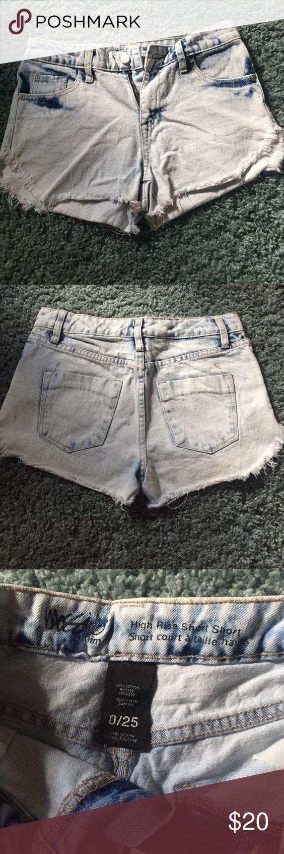 High rise shorts High rise shorts. Size 0 Shorts Jean Shorts