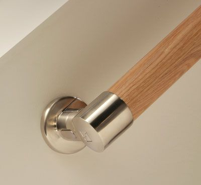 Fusion Commercial Brushed Nickel wall mounted Return bracket