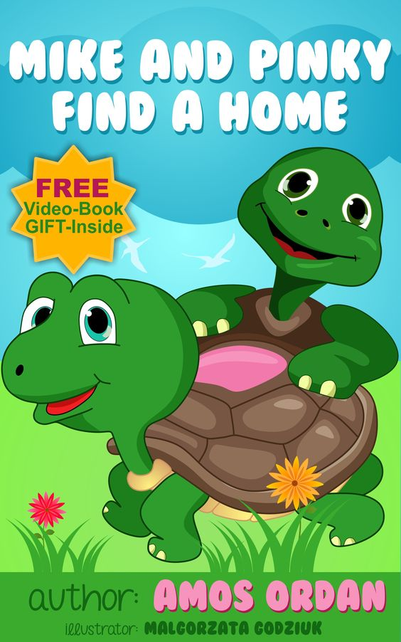 Mike and Pinky live in a pond with Mother Turtle,Father Turtle,and all of  their woodland friends.   But when bulldozers come and build over their home,the two young turtles (Mike and Pinky) must find a new place to live.   Along the way, they learn the meaning of cooperation,self-reliance , and  friendship.   For children at ages 3-10 .