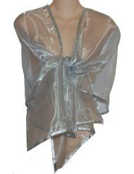 Silver Shrugs for Evening Dress - Shrugs Shawls Stoles And Evening ...