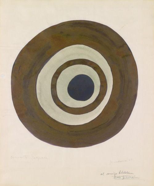Lucio Fontana - Concetto spaziale, 1949.