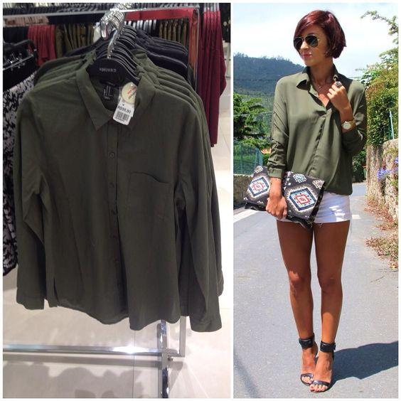 Camisa verde militar da @forever21 que está e vai continuar super na moda por R$5590  #achados #achadinhos #style #dicas #dicadeamiga #fashion #followme #fashionblog #garimpo #garimpando #garimpofashion #moda #modaoff #modabarata #modapormenos #modafeminina #fastfashion #fiquenamoda #pagueipouco #pagueibarato #olhaamiga #instablog #instadicas #instagood #instadaily #espiãdefastfashion by adoreiecompartilhei