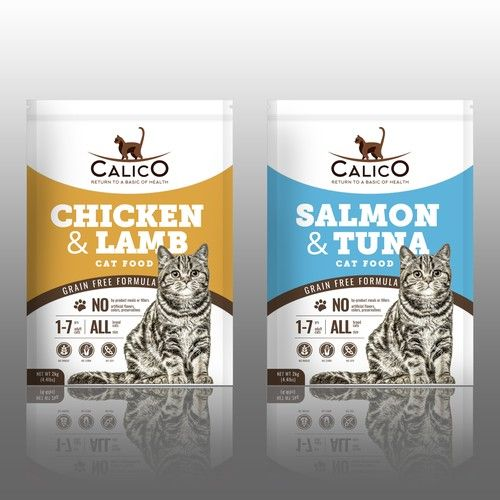 Calico Need A Design For Dry Cat Food Bag 2kg Product Packaging
