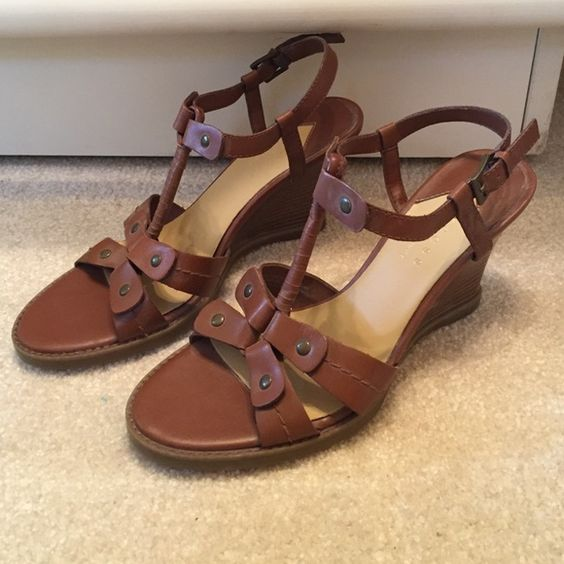 axcess wedges axcess by Liz Claiborne brown wedges. Great condition. Only worn a few times. Liz Claiborne Shoes Wedges
